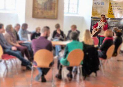 Eindrücke vom AAK-Kindertag am 28.02.2019 in Herborn, hier: Liedermacherin NETTE