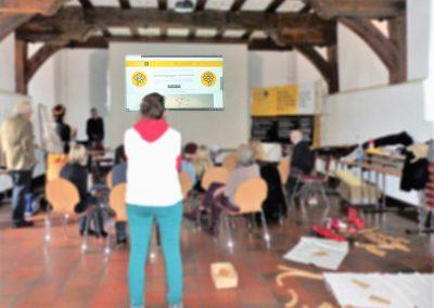 Eindrücke vom AAK-Kindertag am 28.02.2019 in Herborn, hier: Vorstellung der AAK-Kinder-Homepage